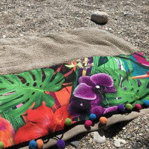 HAWAII BEACH TOWEL | Χειροποίητη πετσέτα θαλασσης